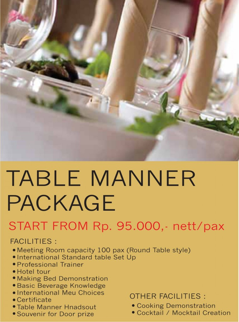 Table Manner - Atrium Premiere Hotel Yogyakarta